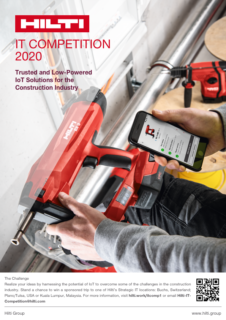 "Towards entry ""Hilti IT Competition 2020"""