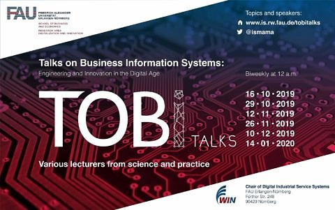 "Towards entry ""Talks on Business Information Systems (TOBI Talks) is around the corner!"""